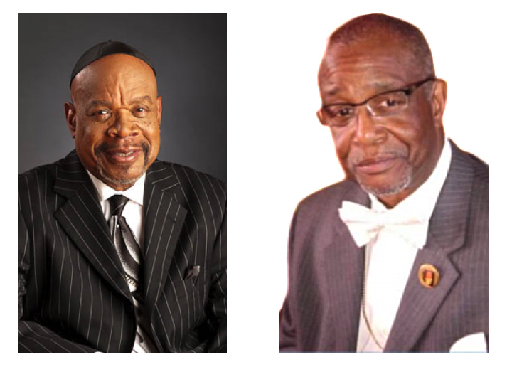 "Bishop Claude Porter (left) and Chief Apostle William McCoy (right), instrumental in establishing the ""New Drug Policy: Challenges and Options"" conference in Illinois."